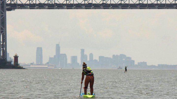 Juliette Duhaime ganó en Damas Elite la carrera SEA Paddle NYC 2019