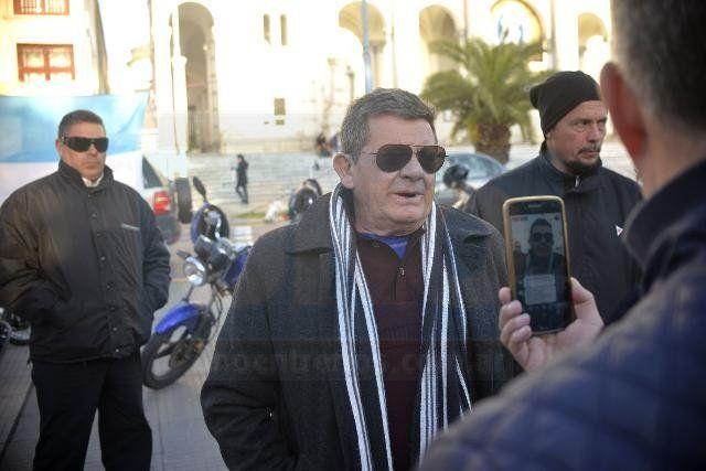 Explicaciones. Dittler informó a la WEB del UNO sobre la medida de fuerza. Foto: Mateo Oviedo