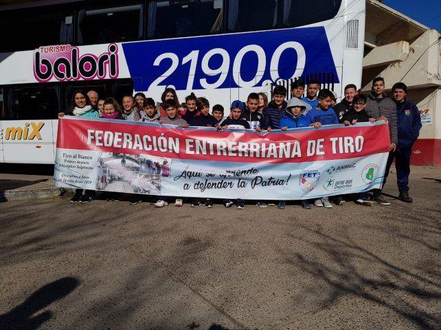 La delegación entrerriana rumbo a Salta