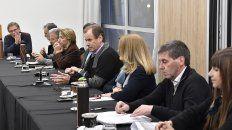 Bordet encabezó la reunión con los funcionarios.