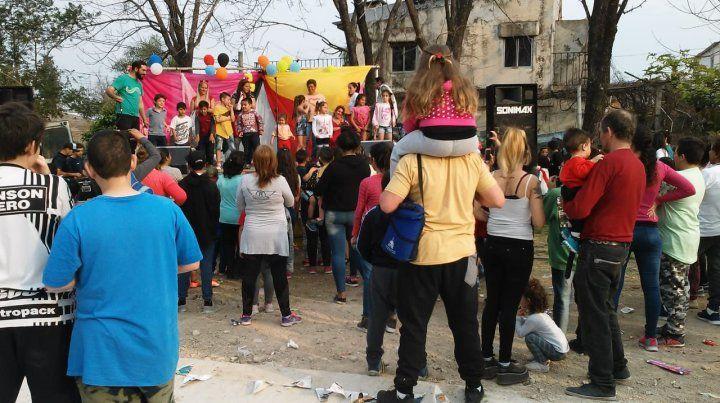 Recuerdos de la edición 2018 del Día del Niño en la plaza del barrio López Jordán