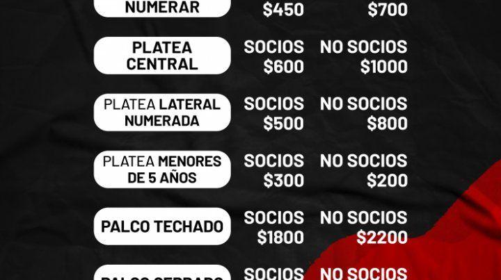 Patronato y la venta de entradas para el partido ante Huracán