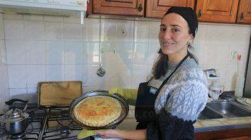 Tarta de peras y roquefort, la propuesta de Luciana Actis