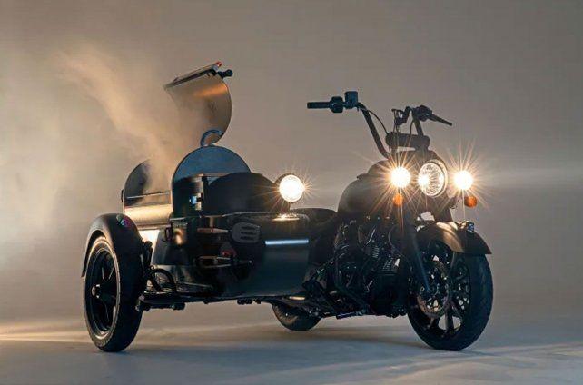 Motochori: una moto con parrilla incluida