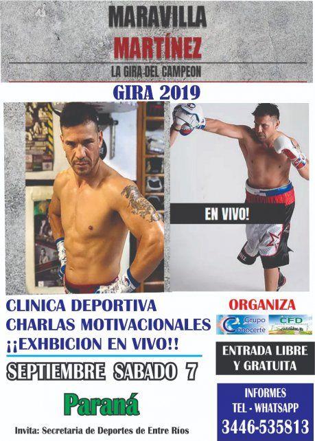 Maravilla Martínez hará una exhibición con Cloroformo López