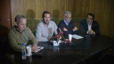 Conferencia de prensa empresarios de transporte