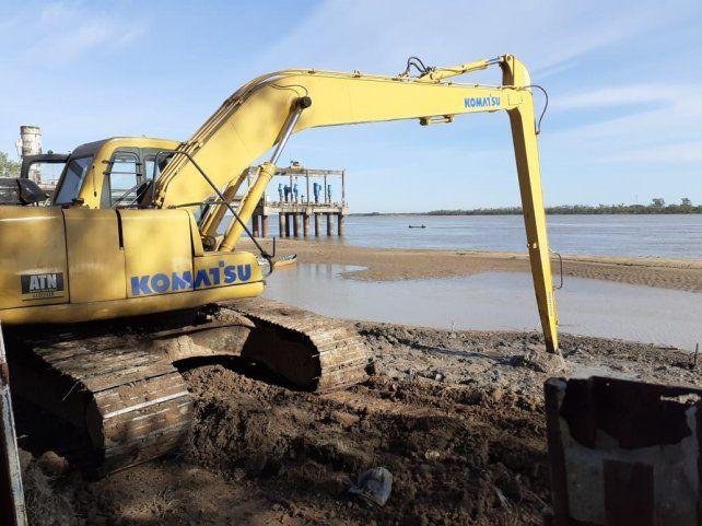 Abrupta bajante del río afecta la toma de agua para potabilizar