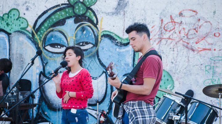 Los músicos aprovecharon la oportunidad para tocar.