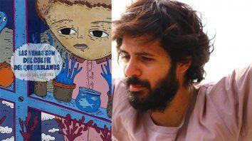 Arte. La tapa de Las venas son del color... fue ilustrada por el artista paranaense Lucas Mercado.