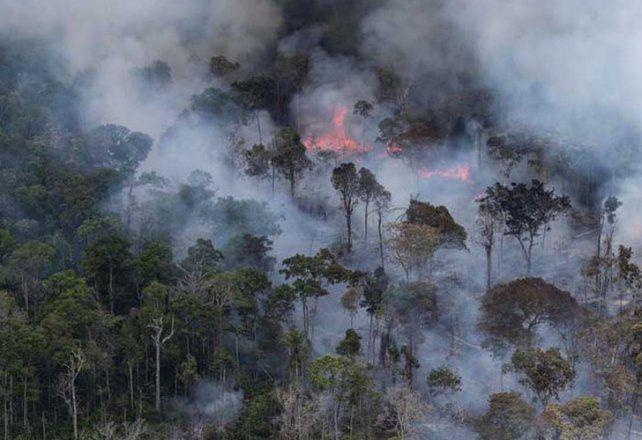 El humo proveniente del Amazona ya cubre gran parte de Entre Ríos