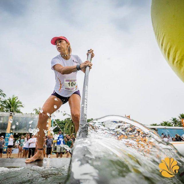 Daniela en la Aloha Spirit de Brasil.