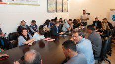 La reunión se desarrollo en la Secretaría de Trabajo provincial, encabezada por Fernando Quinodoz.
