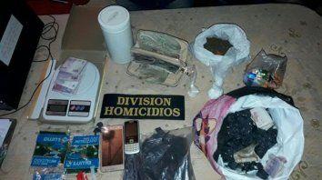 Violencia. La droga fue hallada cuando la Policía buscaba armas en una causa por un intento de homicidio.