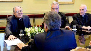 Encuentro. Macri recibió a los obispos el martes por el mismo tema.