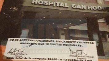 Irregular. Las dudas la planteó la presidenta de la Cooperadora del Hospital San Roque de Paraná