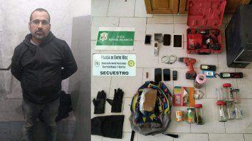 Experto. Al detenido lo buscaban desde distintas provincias. Al ser arrestado, iba con sus herramientas a robar.