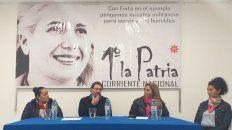 Zárate, Ruggeri, Ríos y Báez en la charla de este martes.