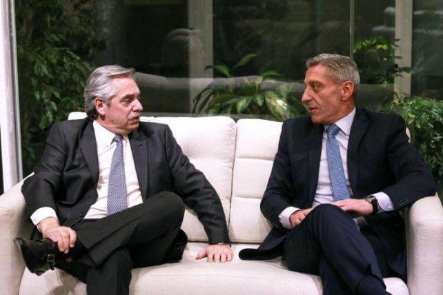 Frágil alianza. Alberto Fernández está preocupado por la gestión de Arcioni.