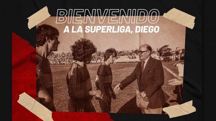 Patronato también le dio la bienvenida a Diego Maradona