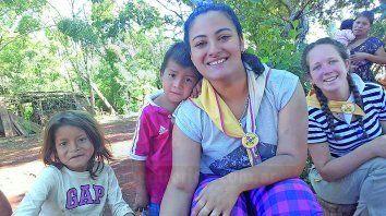 Anualmente Leonela realiza su visita evangelizadora en El Soberbio, Misiones.
