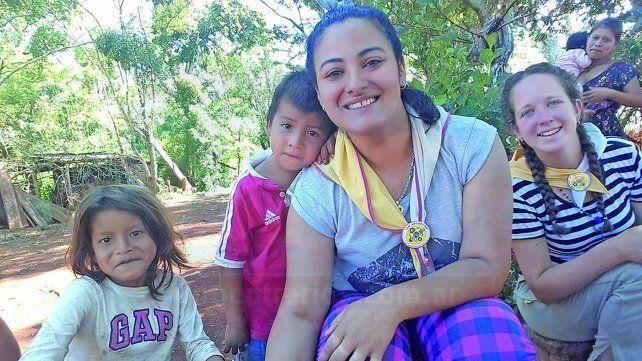 Anualmente Leonela realiza su visita evangelizadora en El Soberbio