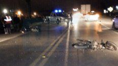 colisionaron dos motos en el acceso a san benito