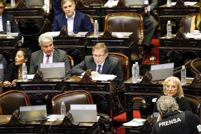 Los diputados sesionaron hoy en el Congreso.