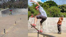 El skatepark no pega una: robaron la baranda