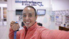 Feliz. Mica obtuvo el logro más importante de su carrera deportiva. A los 25 volvió a remar y cinco años después se llevó la presea en Lima.
