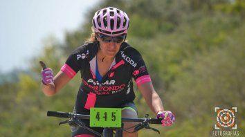 Carina Olalla ganó enla general damas en 55 KM.