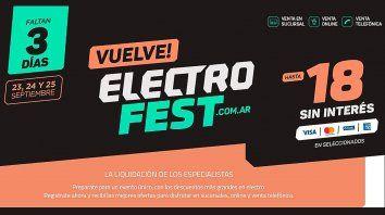 Vuelve ElectroFest con importantes descuentos y cuotas