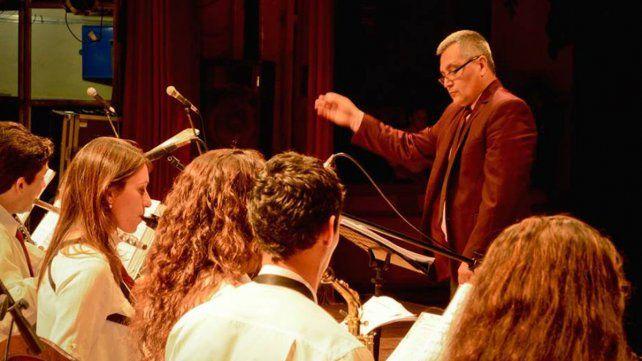 Maestro. La dirección artística de la banda y la coordinación de la escuela están a cargo de Horacio Jurasek.