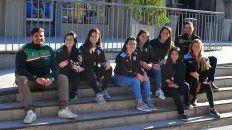 Presentes en UNO. Parte del plantel estuvo posando para la foto de Diario UNO de Entre Ríos y hablaron de la actuación en el norte del país.