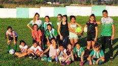 El plantel del equipo de Ministerio integrado por jugadoras que tienen entre 10 y 12 años.