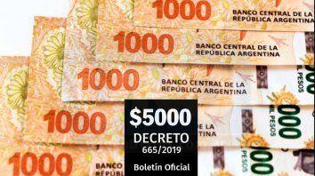 bono de $5.000: quienes lo cobraran