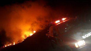 sofocaron incendio forestal en ceibas