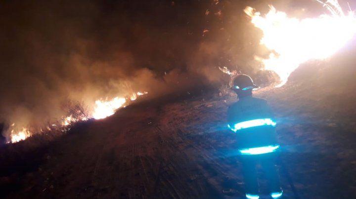 Tres dotaciones trabajaron para extinguir importante incendio forestal en Ceibas