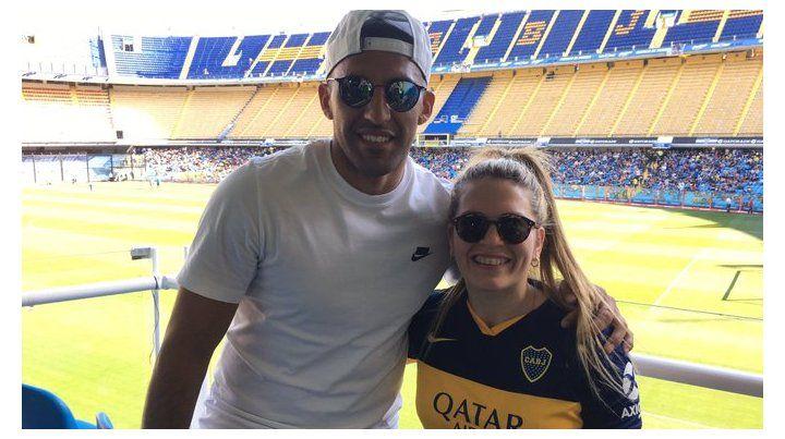 Wanchope y Camu Gómez vieron el Superclásico femenino en la Bombonera.