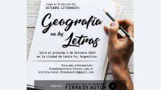 iv octubre literario geografia en las letras