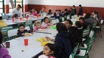 Asistencia. El gobierno ampliará la prestación alimentaria para alumnos.