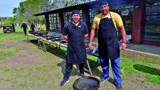la costumbre de compartir el rugby y la cocina al disco