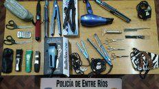 habia comprado los instrumentos robados en una peluqueria