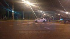 acceso norte: fuerte choque entre un taxi y un automovil