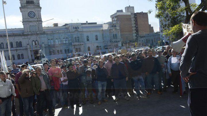 En tribunales. La última protesta de los ruralistas había sido en mayo.