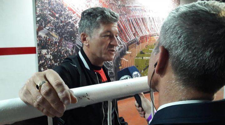 Conforme. Sciacqua entendió que la actuación de Patronato fue digna en su visita al Millonario.