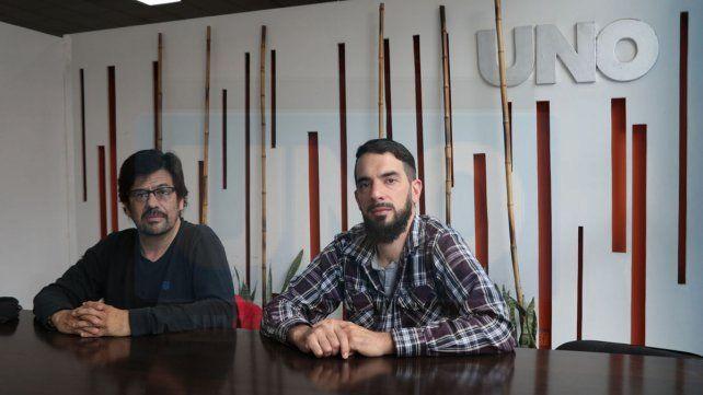 Responsables. El docente Juan Manuel Giménez y el coordinador académico Román Mayorá