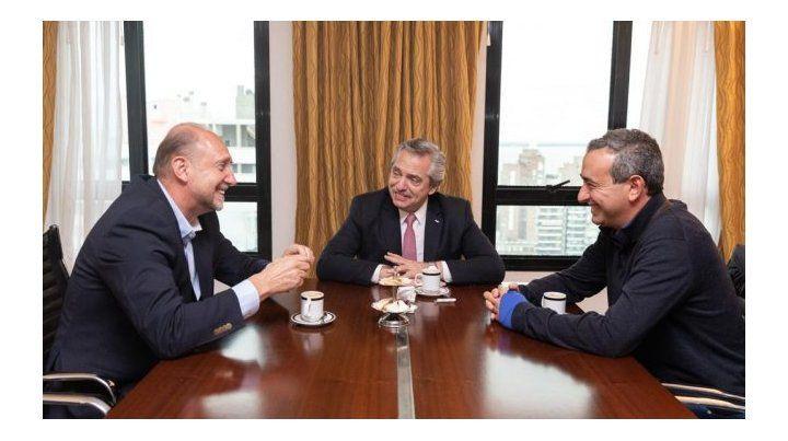Alberto F. se reunió con Perotti y el intendente electo Pablo Javkin