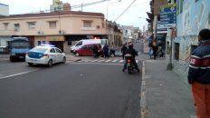 chocaron una moto y una camioneta en el centro de parana