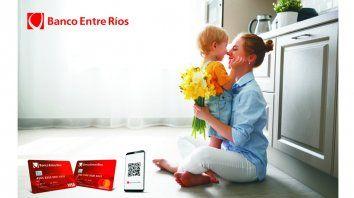 El Día de la Madre con tarjetas y QR del Banco Entre Ríos