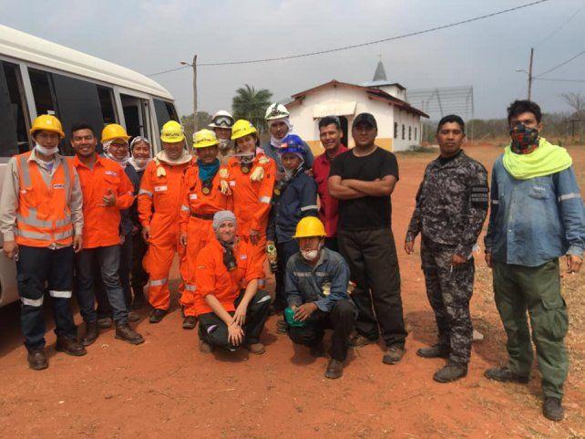 La llama de la solidaridad los llevó a luchar contra el fuego del Amazonas